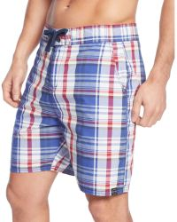 Weatherproof Plaid 7 Eboard Swim Trunks - Lyst