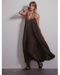 Free People Pretty in Pleats Dress - Lyst