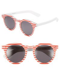 Illesteva 'Leonard Ii' 50Mm Round Sunglasses - Lyst