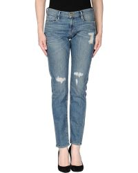 Frame Denim Denim Trousers blue - Lyst