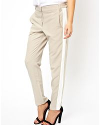 Asos Pants with Color Block Side Seam - Lyst
