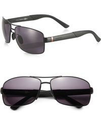 Gucci Sporty Aviator Sunglasses - Lyst