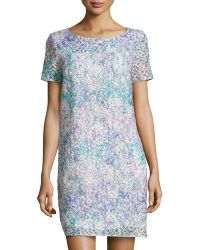 Catherine Catherine Malandrino Bronwyn Floral-Embroidered Shift Dress - Lyst