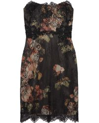 Notte By Marchesa Embellished Lace and Printed Silk-chiffon Dress - Lyst