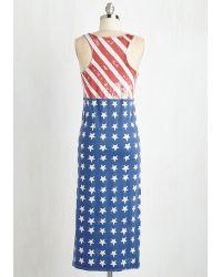 Alternative Apparel - Rad, White, And Blue Dress - Lyst