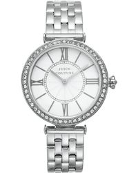 Juicy Couture - Womens J Couture Stainless Steel Bracelet Watch 34mm - Lyst