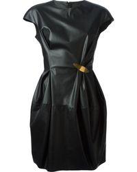 Lanvin Faux Leather Dress - Lyst