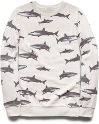 21men Shark Print Sweatshirt - Lyst