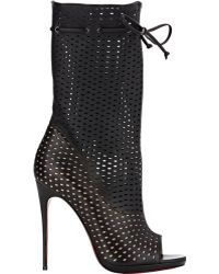 Christian Louboutin Perforated Jennifer Boots - Lyst