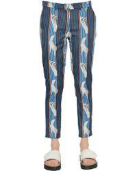 Emma Cook - Cotton Blend Jacquard Trousers - Lyst