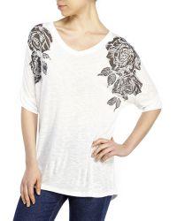 Catherine Malandrino White Rose Burnout Tunic white - Lyst