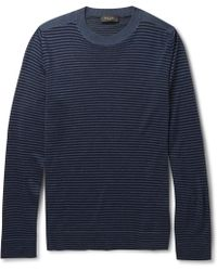 Paul Smith Striped Merino Wool, Silk And Cashmere-Blend Sweater - Lyst