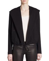 Helmut Lang Drawstring Hooded Jacket - Lyst