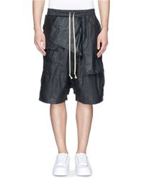 DRKSHDW by Rick Owens 'Memphis' Flap Waxed Cotton Cargo Shorts - Lyst