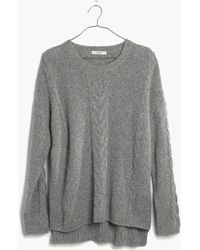 Madewell Easy Cable Pullover Sweater in Donegal - Lyst