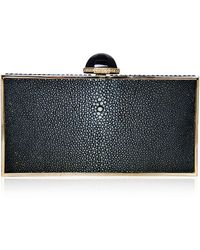 Judith Leiber Perfect Rectangle Stingray Clutch Bag - Lyst