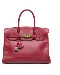Hermès Red Clemence Birkin 30cm Bag - Lyst