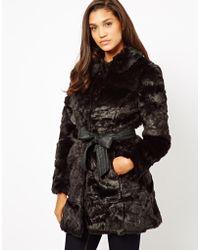 Lipsy - Faux Fur Coat - Lyst