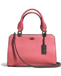 Coach Madison Mini Lexington Carryall in Colorblock Saffiano Leather - Lyst