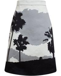 Osman Yousefzada Emperor Palms Print Skirt - Lyst
