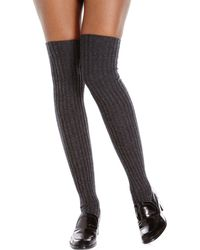 Ilux - Ribbed Over-The-Knee Socks - Lyst