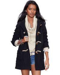 Denim & Supply Ralph Lauren Black Togglefront Coat - Lyst