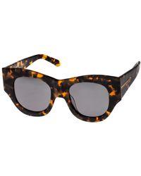 Karen Walker Faithful Sunglasses With Pouch - Lyst