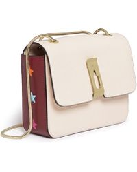 Anya Hindmarch 'Albion' Small Star Embossed Capra Leather Bag beige - Lyst