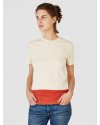Correll Correll - 7 8 T-shirt Natural And Red - Lyst