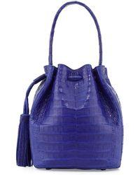 Nancy Gonzalez Crocodile Tassel Shoulder Bag - Lyst