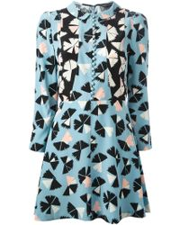 Marc By Marc Jacobs Pinwheel Print Shirt Dress - Lyst