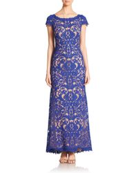 Tadashi Shoji Cord-Embroidered Lace Gown - Lyst