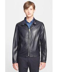 Burberry London 'Ramshaw' Reversible Leather Jacket - Lyst