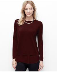 Ann Taylor Woven Shirttail Hem Top - Lyst