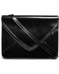 Boyy 'Slash 2.0' Spazzolato Leather Envelope Bag black - Lyst