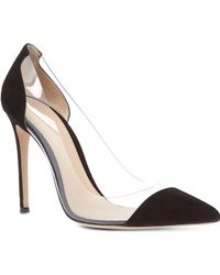 Gianvito Rossi Calabria Suede and Pvc Pumps - Lyst