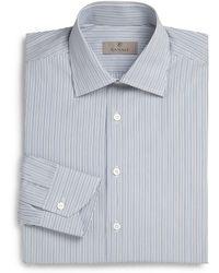 Canali Regular-Fit Track Stripe Dress Shirt - Lyst