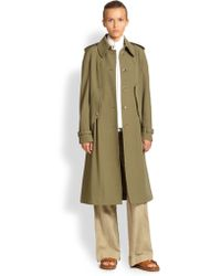 Michael Kors Wool Gabardine Cape Trench - Lyst