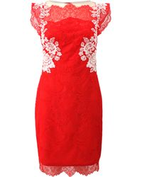 Notte By Marchesa Embroidered Lace Detail Dress - Lyst