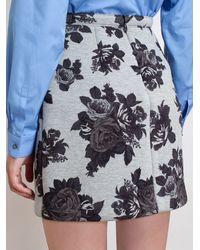 MSGM Floral Print Mini Skirt - Lyst