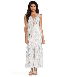 Anna Sui Iris Print Maxi Dress - Lyst