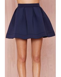 Nasty Gal Nicki Skater Skirt - Navy - Lyst