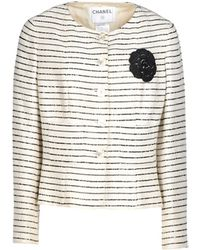 Chanel White Blazer - Lyst