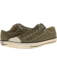 Converse Chuck Taylor All Star Vintage Washed Twill Double Zip Ox - Lyst