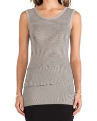 James Perse Tucked Stripe Ballet Tank - Lyst