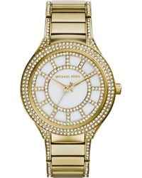 Michael Kors Kerry Goldtone Stainless Steel & Mother-Of-Pearl Glitz Bracelet Watch - Lyst