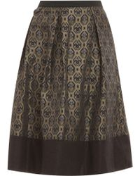 Day Birger Et Mikkelsen Memento Black Printed Skirt - Lyst