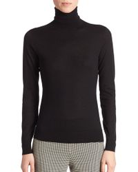 Ralph Lauren Black Label Cailee Stretch-Jersey Turtleneck Top black - Lyst