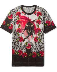 Dolce & Gabbana Printed Cotton T-Shirt - Lyst