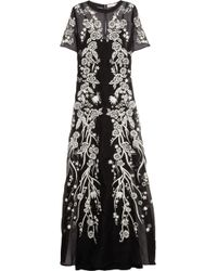 Matthew Williamson Embroidered Silkblend Voile Gown - Lyst